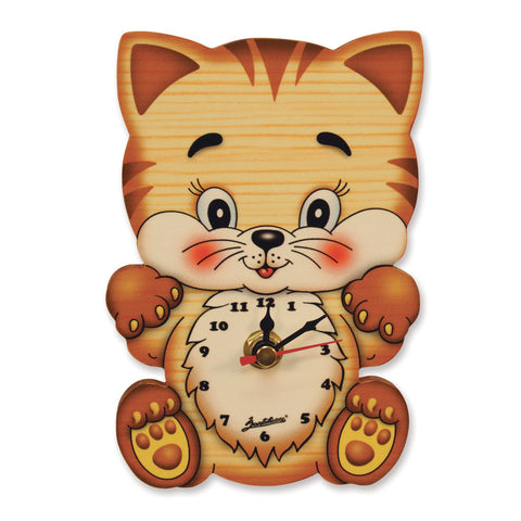 Bartolucci Clock Cat with Big Head sml