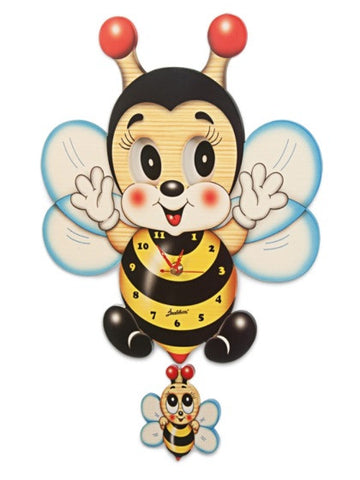 Bartolucci  Clock Moving eyes w. Pend. Bee