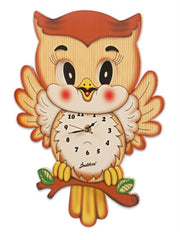 CLOCK MOV. EYES  w.PEND OWL