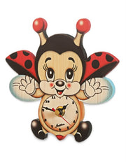 Bartolucci Clock Flying Ladybird sml