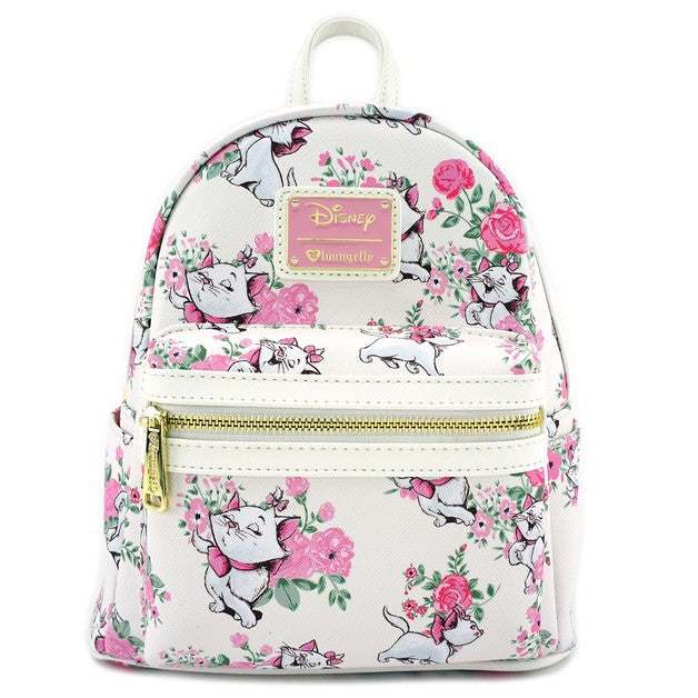 Disney Aristocats Marie White Floral Mini Backpack