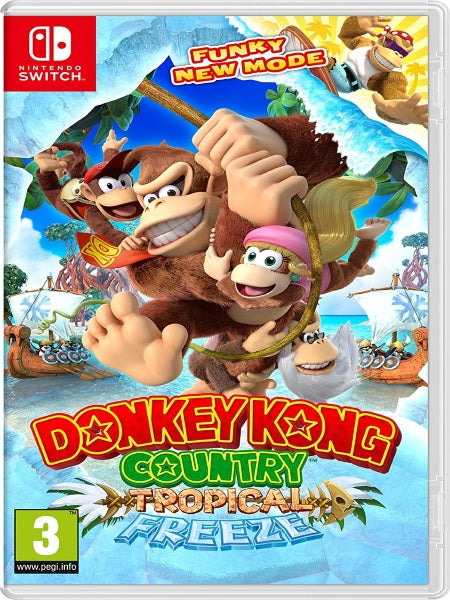 Donkey Kong Country: Tropical Freeze NSW front cover