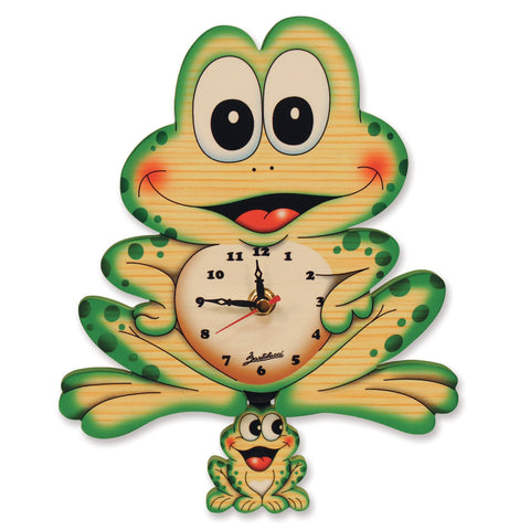 Bartolucci Clock Moving eyes w. Pend. Frog