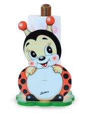 KITCH.PAPER HOLDER WITH BASE LADYBIRD
