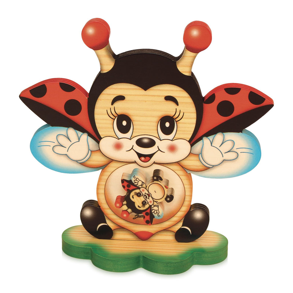 Bartolucci MUSIC BOX TABLE FLYING LADYBIRD