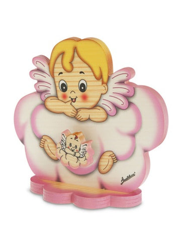 Bartolucci MUSIC BOX TABLE ANGEL PINK CLOUD