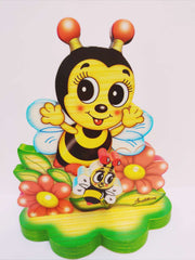 Bartolucci Music Box Table Bee with Flowers