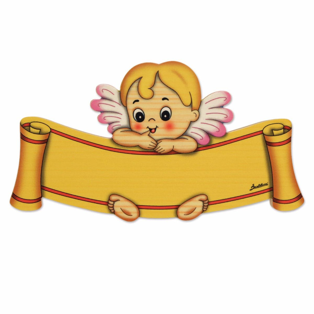 Bartolucci NAME PLATE BIG PINK ANGEL