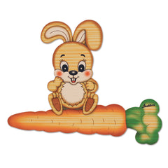 Bartolucci NAME PLATE MAGNETIC MED RABBIT WITH CARROT