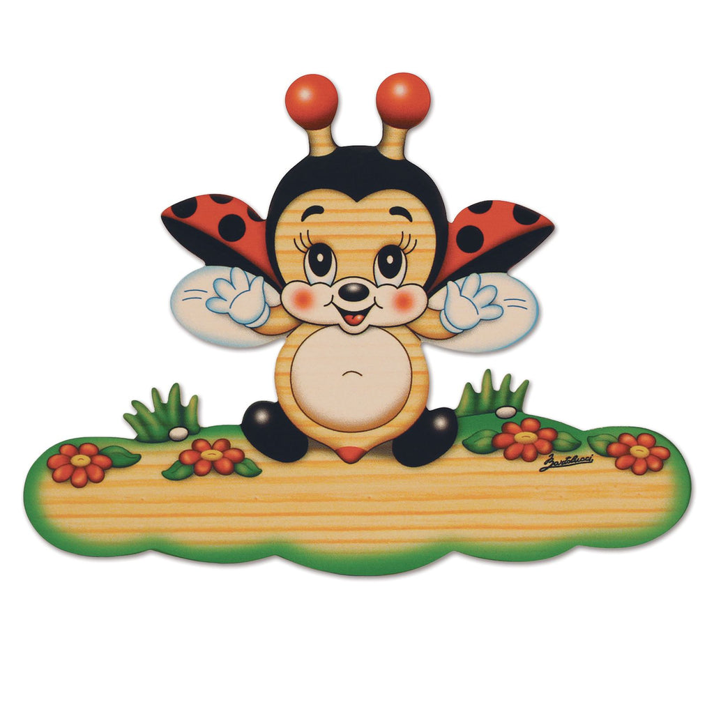Bartolucci Name Plate Magnetic Flying Ladybird sml