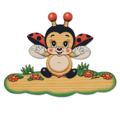 Bartolucci NAME PLATE MAGNETIC MED FLYING LADYBIRD