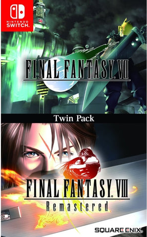 Final Fantasy VII & Final Fantasy VIII Remastered Twin Pack  NSW front cover