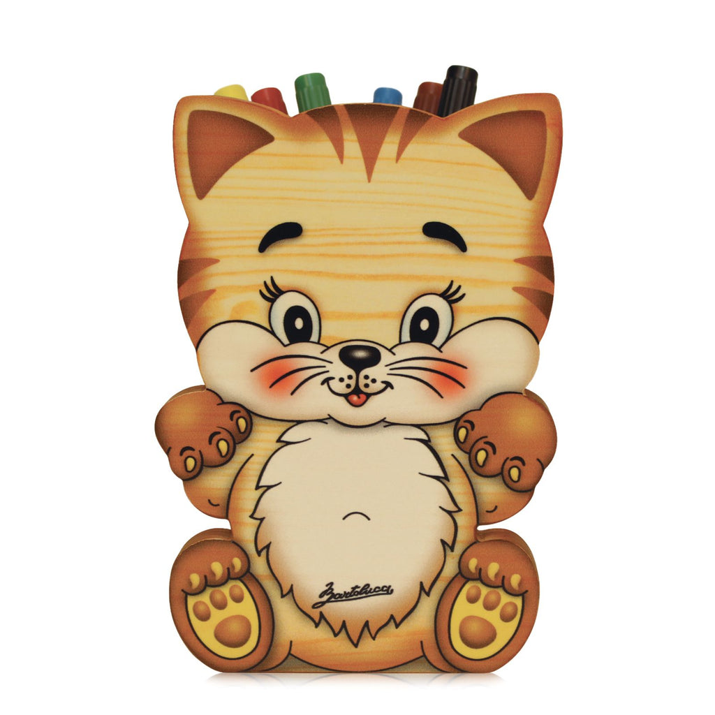Bartolucci Pen Holder Cat with Big Head sml