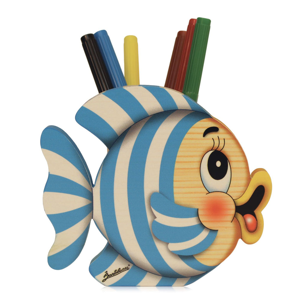 Bartolucci Pen Holder Striped Fish big