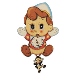 Bartolucci Clock Moving eyes w. Pend. Pinocchio