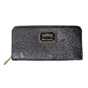Pokemon Pikachu Black Embossed Wallet