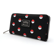 Pokemon Black With Pokeballs Wallet