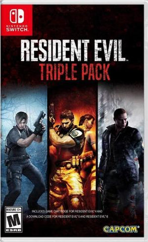 Resident Evil Triple Pack NSW front cover