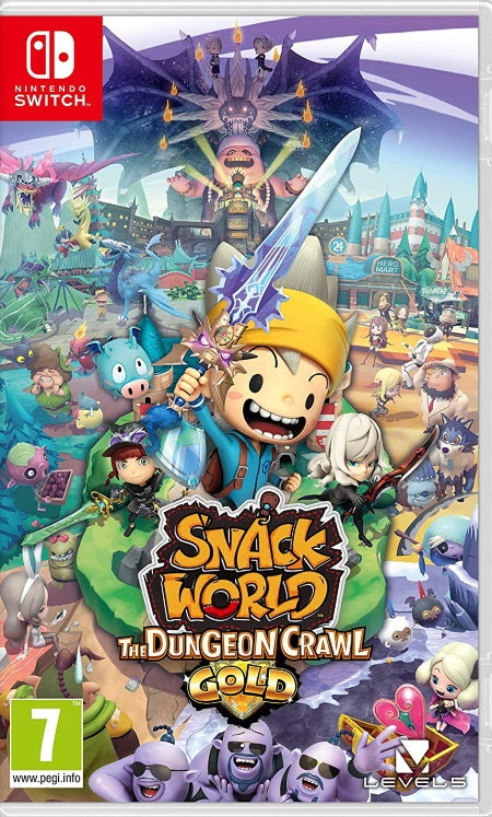 Snack World The Dungeon Crawl - Gold (Nintendo Switch) front cover