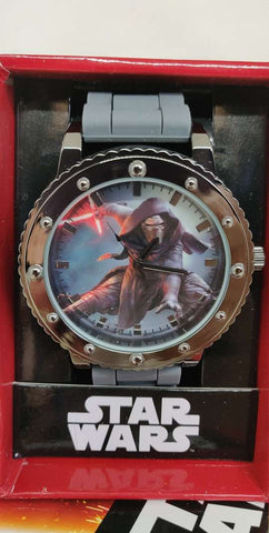 Star Wars Kylo Ren Gray Silicone Strap Watch