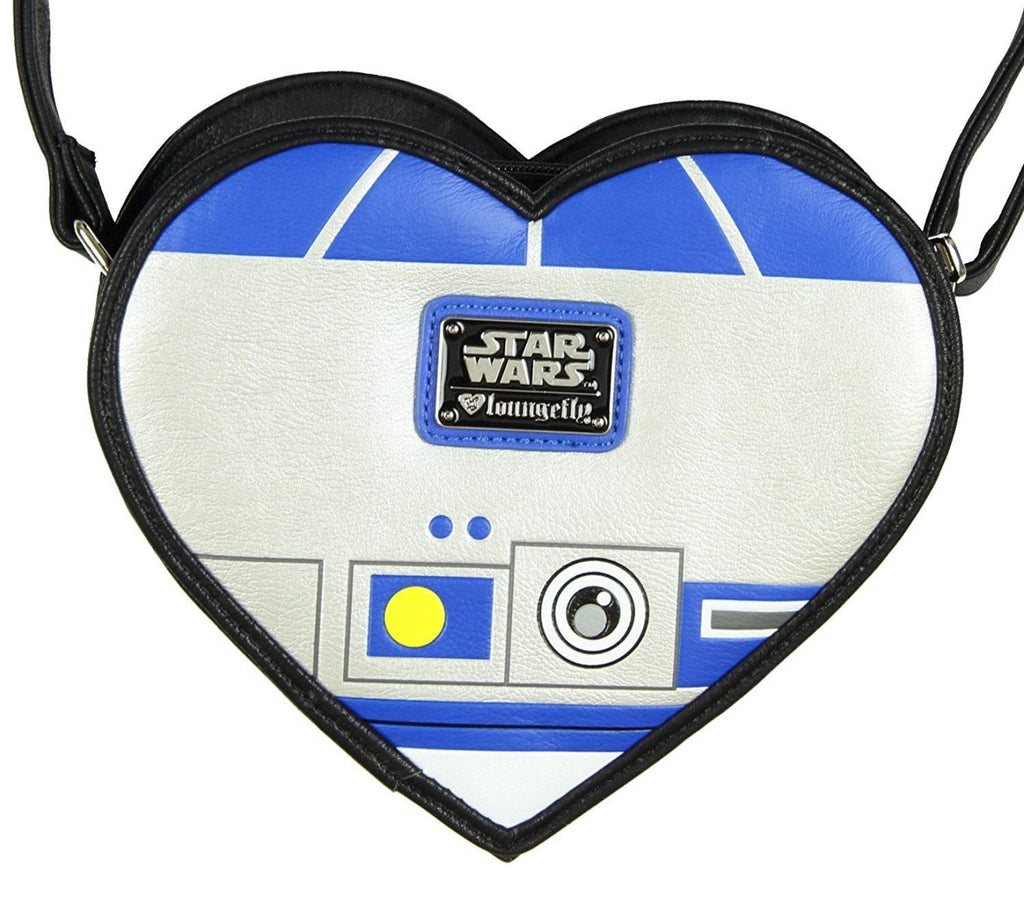 Star Wars R2-D2 Heart Shaped Die Cut Crossbody Bag by Loungefly