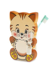 TOOTHBRUSHES HOLDER CAT WITH BIG HEAD