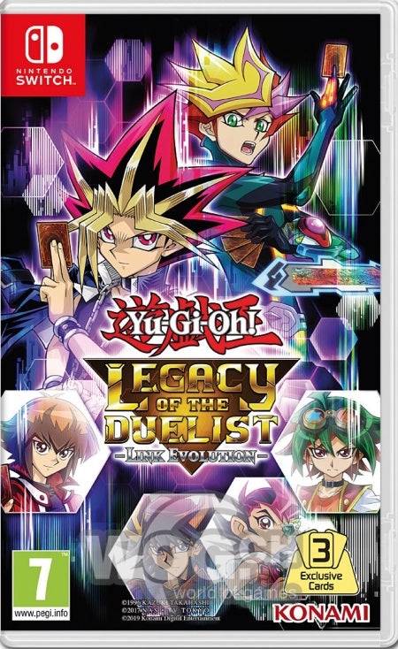 Yu-Gi-Oh! Legacy of the Duelist - Link Evolution NSW front page