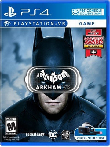 Batman: Arkham VR For Playstation 4 front cover