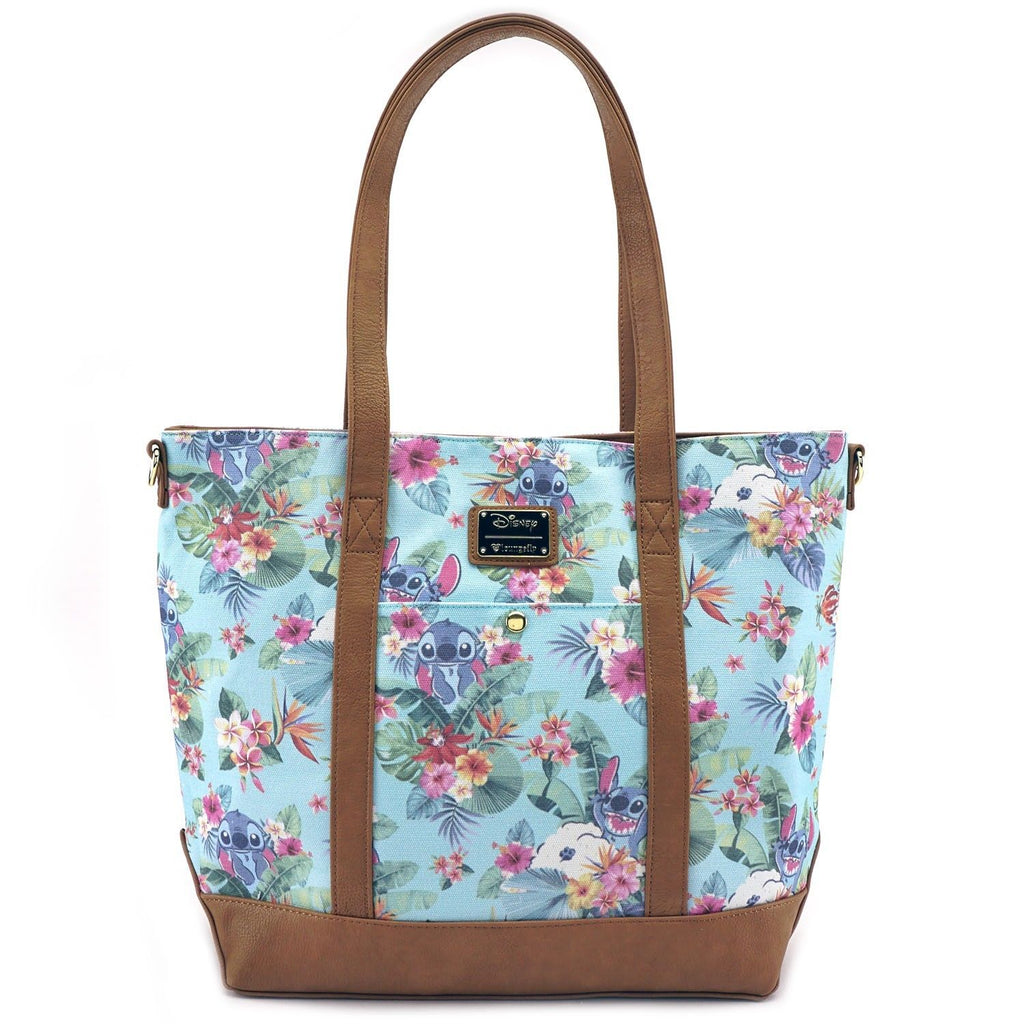 Disney Stitch Teal Floral Crossbody Bag