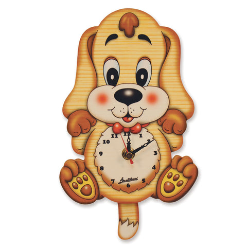 Bartolucci Clock with pendulum Basset Hound Dog
