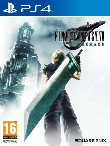 Final Fantasy VII Remake P4 front cover