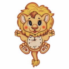 Bartolucci Clock Moving eyes w. Pend. Lion