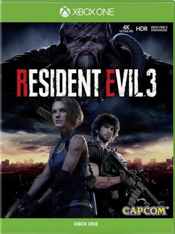 Resident Evil 3 - Xbox One front cover
