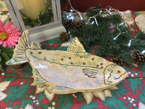 Handmade Fish Shaped Platter