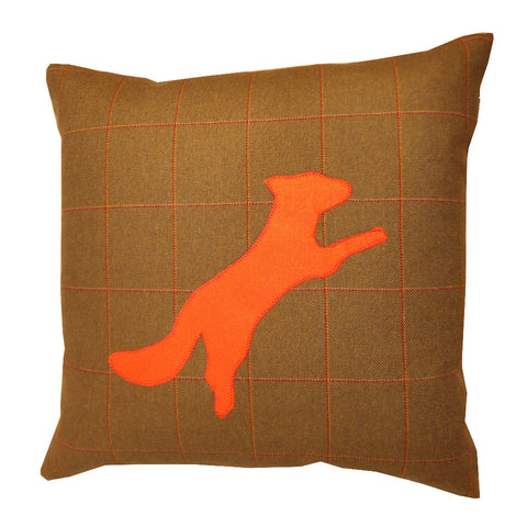 Tweed Cushion, Fox