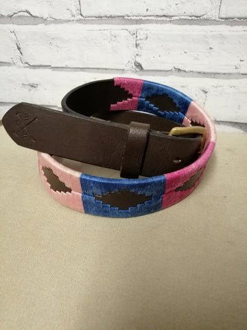 Polo Belt - Pale Pink, Pale blue and Dark pink.
