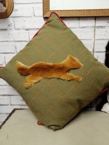 British Tweed & Fox Cushion