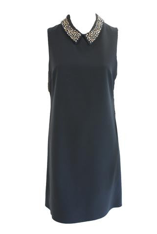Copy of Jewel neck sleeveless blue dress <br> unit price £8.50