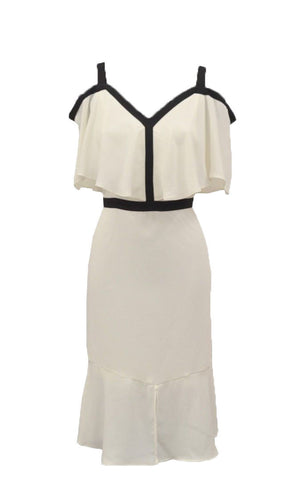 Coast Leah Ivory/Black Dress <br> unit price £9.95