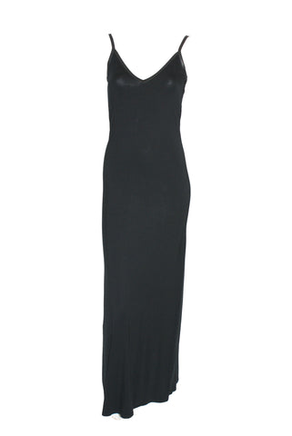 Black strap back maxi dress <br> unit price £4.95