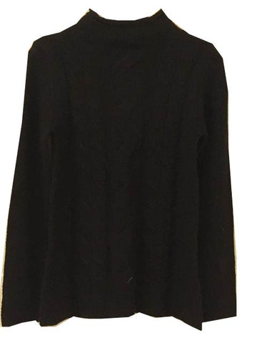 Funnel neck cable jumper <br> unit price £3.50