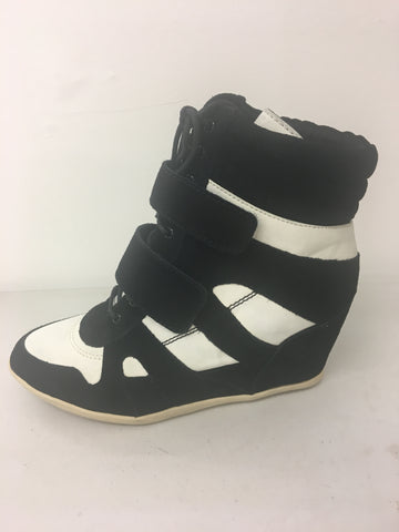 Isabel marant inspired wedge trainer black/white <br> £5.95