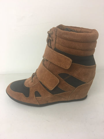 Isabel marant inspired wedge trainer brown/black <br> £5.95