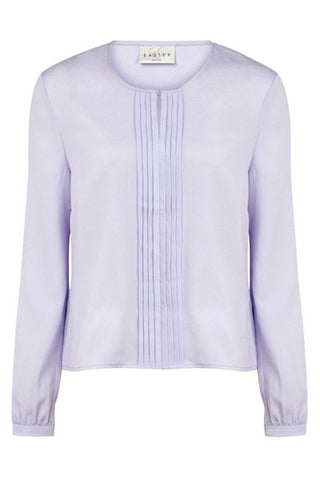 Lilac pleat front blouse <br> unit price £3.50