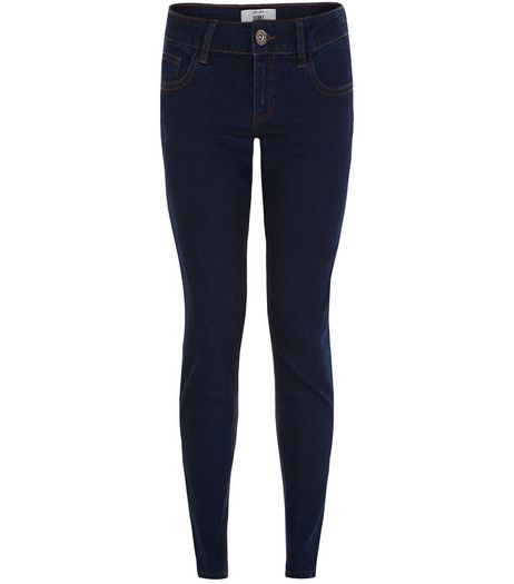 ex NEW LOOK DARK WASH SKINNY JEANS PETITE <BR> unit price £3.95