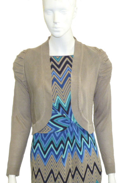 Long sleeve ruched sleeve cardi <br> colour options <br> unit price £2.50