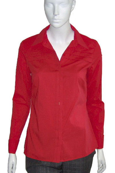 ex Planet Red fitted shirt with pleat detail <br> unit price £5.00