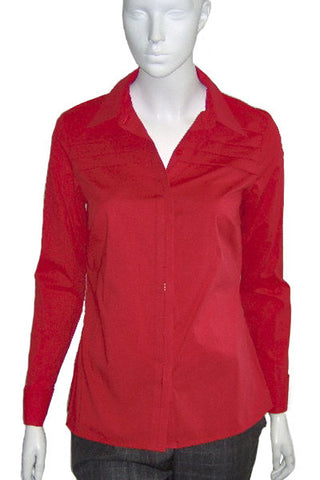 ex Planet Red fitted shirt with pleat detail <br> unit price £4.00