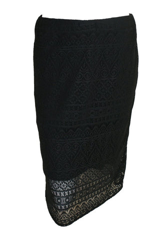 EX WALLIS BLACK LACE MIDI SKIRT <br> unit price £3.95