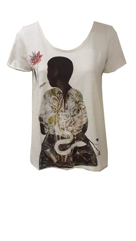 Ann Taylor Loft short sleeve t shirt with print <br> unit price £2.25
